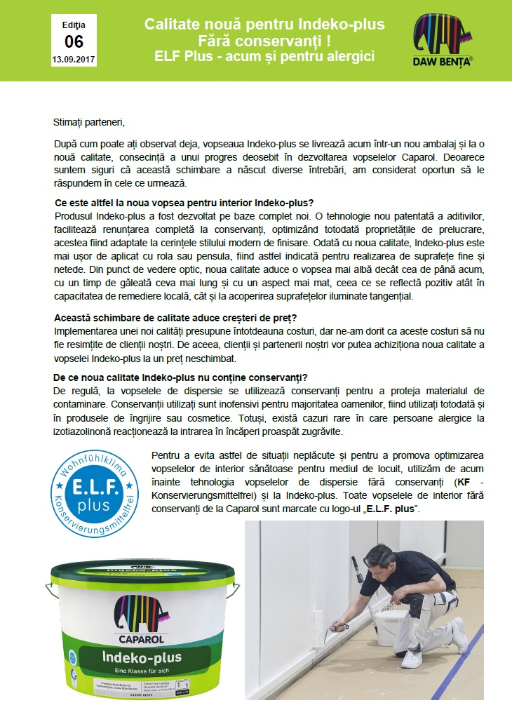 Informare Indeko ELF Plus